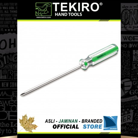 Obeng Gagang Kristal (+) Plus PH00 Dia. 2.5 mm x 50 mm / In Line Screwdriver TEKIRO
