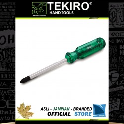 Obeng Ketok Tembus Hijau (+) Plus / Go-Thru Green Handle Screwdriver